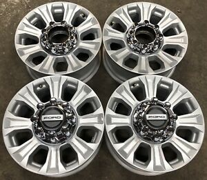 Ford F250 F350 Sd 8 Lug Silver Aluminum Factory Oem 18 Wheels Rims 10097 2315