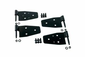 Rugged Ridge Black Door Hinge Kit For Jeep Wrangler 1987 2006 Yj Tj 11202 01