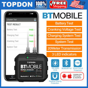New Topdon Bt Wireless Auto Car Load Battery Tester App Bluetooth Android Ios