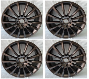 4pc 19 Amg Style Staggered Wheels 5x112 Rim Fits Mercedes benz C E S Class