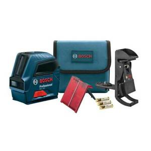 Bosch Gll50 50 Red Beam Visimax Self Leveling Cross Line Laser Reconditioned