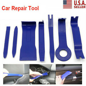 7pcs Universal Panel Removal Open Pry Tools Kit Car Dash Door Radio Trim