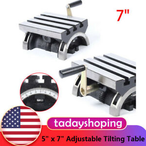 5 X 7 Adjustable Tilting Table For Milling Machines Swivel Angle Plate 0 90