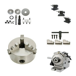 New Bs 1 Precision Dividing Head 6 3 Jaw Chuck Semi Universal Milling Set