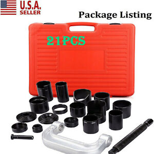 21pcs Auto Ball Joint Press Repair Removal Tool Installing Master Adapter Kit