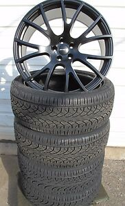 22 New Dodge Charger Srt Hellcat Satin Black Set Of 4 Wheels Rims Tires