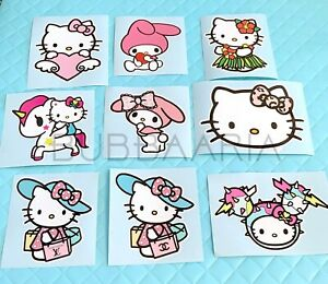 Hello Kitty My Melody Large Vinyl Decals 9 Designs To Choose From