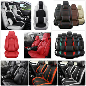 Car 5 Seats Seat Covers Protector Pu Leather Cushions Universal For Honda Civic