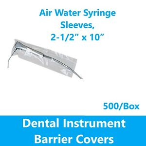 Dental Air water Syringe Barrier Sleeves Open End 2 1 2 X 10 500 box
