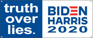 20x48 Inch Truth Over Lies Biden Harris Vinyl Banner President 2020 Sign Bwb
