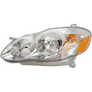 For Toyota Corolla 2003 2004 Left Driver Side Headlight Assembly Dac