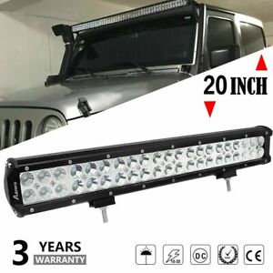 20 Inch Cree Led Work Light Bar 200w Flood Spot Combo Offroad Suv Driving Lamp