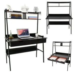 Computer Desk Wood Laptop Table Drawer shelf Writing Gaming Home Office