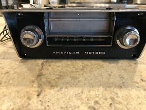 1968 1969 Amc Amx Javelin 8 Track Tape Player With Bezel 68 69