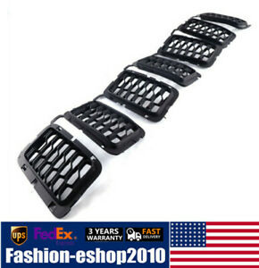 7pcs Front Grille Trim Insert Grill Guard For Jeep Grand Cherokee 2017 2019