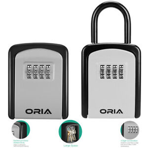 Wall Mounted padlock Outdoor_4 digit Combination Key Lock Storage Security Box