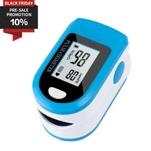 Finger Pulse Oximeter Fingertip Blood Oxygen Sensor O2 Spo2 Monitor Heart Rate