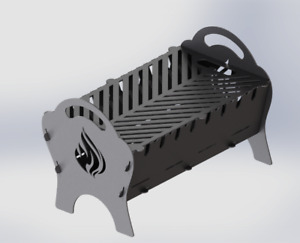 Grill Fire Pit Mangal Dxf Files For Plasma Laser Water Cutting Or Cnc Diy