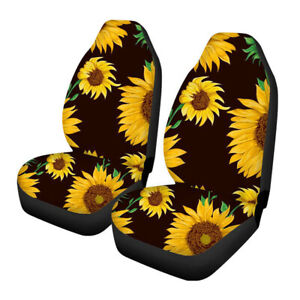 Flower Universal Car Front Seat Cover Set For Auto Suv Steering Wheel Belt Pad