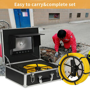 Sewer Waterproof Camera 7 Lcd Drain Pipe Pipeline Inspection System 50m Cable