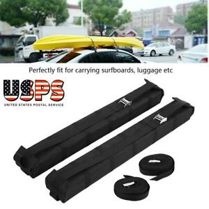 New Universal Car Roof Cargo Storage Rack Luggage Carrier Soft Easy Rack Us
