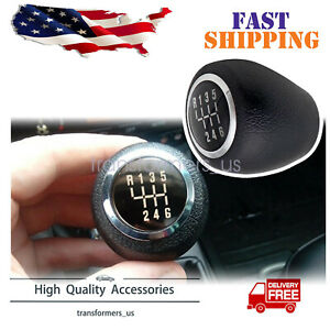 Manual 6 Speed For Chevrolet Cruze Gear Shift Knob Head Handball Leather Black