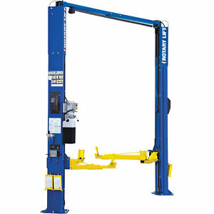 Rotary Lift 2 Post Asymmetrical Car Lift 10 000 Lb Capacity Blue Spoa10n700bl
