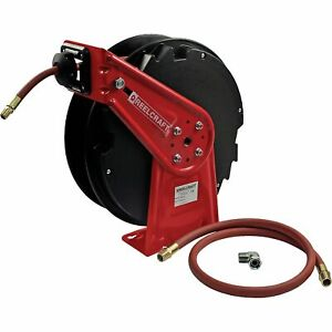 Reelcraft Spring retractable Air Hose Reel W 3 8inx50ft Hose 300 Psi W swivel