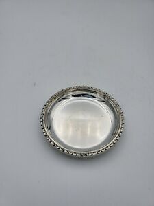 Vintage Silver Plated Miniature Tray Pin Dish 2 5