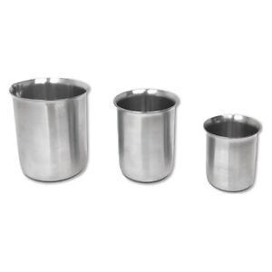 Quality Beakers With Rim Low Form Made From Astm Standard Stainless Steel
