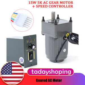 Gear Motor Eectric Variable Speed15w Ac Gear Motor Reversible Motor W controller