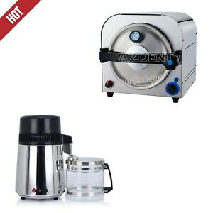 Dental Autoclave Steam Sterilizer Medical Sterilization water Distiller Purifier