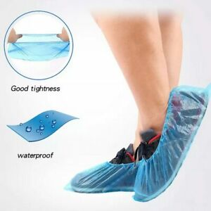 100pcs pack Wholesale Blue Anti foot Infection Waterproof Disposable Shoe Covers