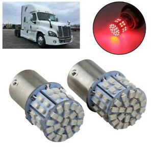 New 2x Red Interior 1156 Led 50smd Dome Cab Light Bulb For Freightliner Cascadia