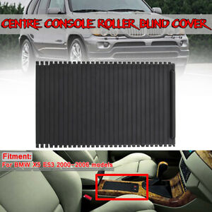 Center Console Roller Blind Rear Front Cover For Bmw X5 E53 2000 2006 Black