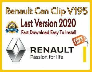 Renault Can Clip V195 Latest Version 03 2020 Extra Bonuses