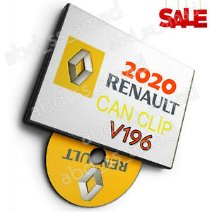 Renault Can Clip V196 Latest Version 05 2020 Extra Bonuses