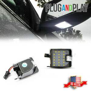 White Rearview Side Under Mirror Lamp Puddle Light For Ford Focus Escape 2013 Up