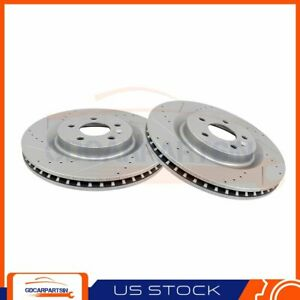 Brake Front Disc Rotors Drilled Slotted For 2011 2012 2013 2014 Ford Mustang