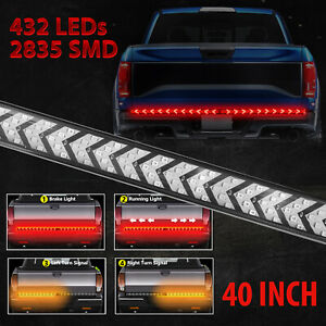 Truck Tailgate Strip 48 Led Sequential Turn Signal Brake Tail Reverse Light Bar
