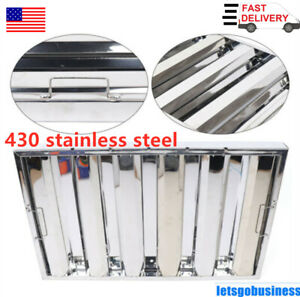 6x Commercial Kitchen Exhaust Hood Vent Grease Filter Baffle Stainless Steel Usa