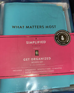 Emily Ley Get Organized Planner Boxed Set Designer New Simplified Tiffany Blue