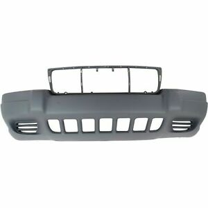 New Bumper Cover Textured Fits Jeep Grand Cherokee 1999 2003 Front Ch1000264