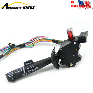 Turn Signal Switch Cruise Wiper For 1995 1999 Chevy K1500 Suburban Tahoe