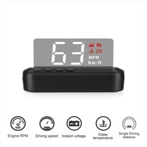 Car Obd2 Hud Mirror Head Up Display Projector Security Alarm Digital Speedometer