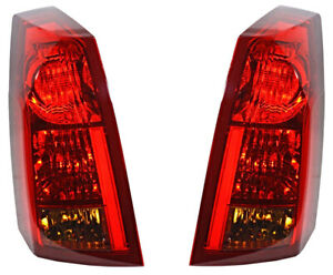 Tail Lights Set Left Driver Right Passenger Pair For 2004 2007 Cadillac Cts