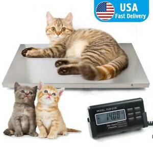 Digital Pet Scale 660lbs Livestock Vet Scale Hog Dog Sheep Goat Scale Stainless