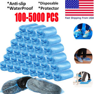 5000 Waterproof Boot Shoe Covers Plastic Disposable Cleaning Overshoes Protector