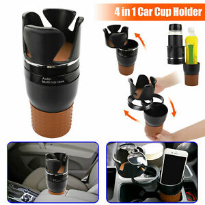 4in1 Multifunction Auto Car Seat Cup Holder Water Bottle Drink Coffee Adjustable
