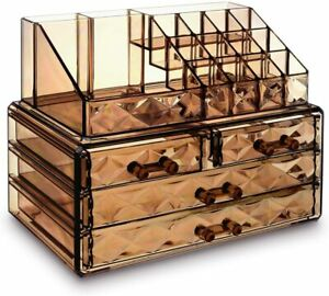 Make Up Organizers And Storage Desk Organizer With Drawers Desktop Set Elegant